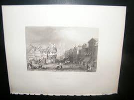Germany 1847 Antique Print. Brunswick