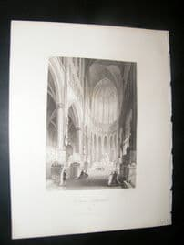 Germany 1847 Antique Print. Cologne Cathedral