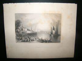 Germany 1847 Antique Print. Dresden