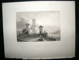 Germany 1847 Antique Print. Hornberg