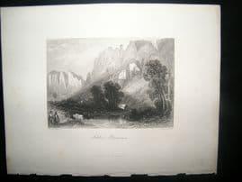 Germany 1847 Antique Print. Schloss Bronnen