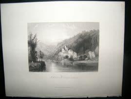 Germany 1847 Antique Print. Schloss Kiempenstein