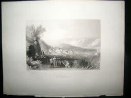 Germany 1847 Antique Print. Schulpforte