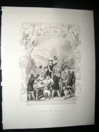 Germany 1847 Print. Student life in Germany. Landesvater