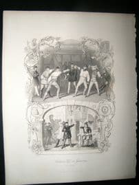 Germany 1847 Print. Student life in Germany. The Duellist. Sword Fencing