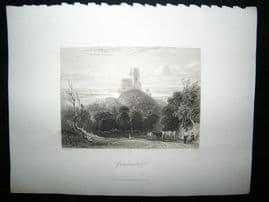 Germany 1847 Steel Engraving, Griefenstein, Antique Print