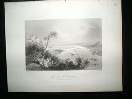 Germany: 1855 Steel Engraving, Leopoldsberg
