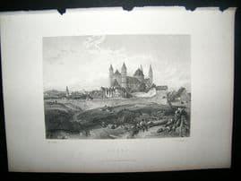 Germany C1870 Antique Print. Worms