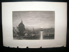Germany Switzerland 1838 Antique Print. Lake Constance