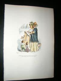 Grandville des Animaux 1842 Hand Col Print. Author Bird