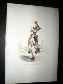 Grandville des Animaux 1842 Hand Col Print. Sergeant Goose Bird