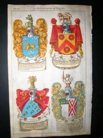 Guillim Heraldry 1679 H/Col. Francis North, Thomas Chicheley, Thomas Dolman