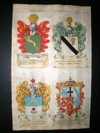 Guillim Heraldry 1679 H/Col. R. Whitworth, John Vanheck, Stanley's of Devonshire