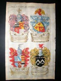 Guillim Heraldry 1679 H/Col. Ralph Marshall, Francis Lunde, Richard Stratford