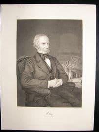 Henry Clay 1873 Antique Portrait Print