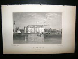 Holland Netherlands C1850's Antique Print. Amsterdam, Marine