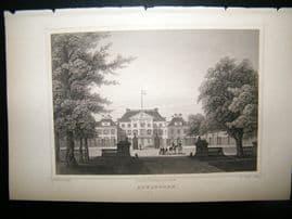 Holland Netherlands C1850's Antique Print. Apeldoorn