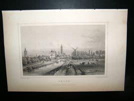 Holland Netherlands C1850's Antique Print.  Delft