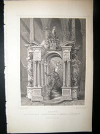 Holland Netherlands C1850's Antique Print. Delft, Wihelm II