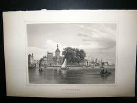 Holland Netherlands C1850's Antique Print. Dortrecht