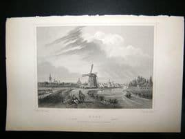 Holland Netherlands C1850's Antique Print. Haag, The Hague