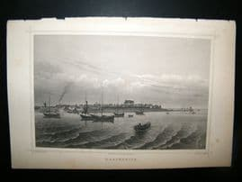 Holland Netherlands C1850's Antique Print. Harderwijik