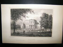 Holland Netherlands C1850's Antique Print. Harlem, Konigliche Palace