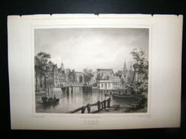 Holland Netherlands C1850's Antique Print. Hoarn