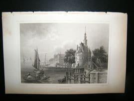 Holland Netherlands C1850's Antique Print. Hoorn