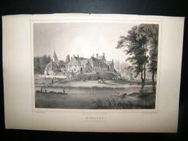 Holland Netherlands C1850's Antique Print. Woerden