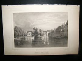 Holland Netherlands C1850s Antique Print. Sgravenhage