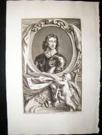 Houbraken C1750 Folio Antique Portrait. General John Lambert