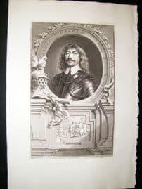 Houbraken C1750 Folio Antique Portrait. James Graham, Marquis of Montross