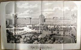 Illustrated London News 1859 LG Folio Wood Engraving. The Tuileries, Paris, France