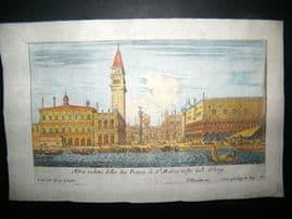 Israel Sylvestre C1660 Antique Hand Col Architecture Print. Venice, Italy