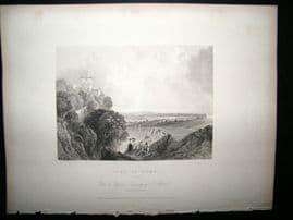 Italy 1834 Antique Print. Lake of Nemi