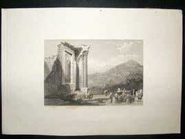 Italy: 1834 Steel Engraving, Tivoli Print