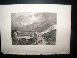 Italy 1838 Antique Print. Duomo d'Ossola, Piedmont