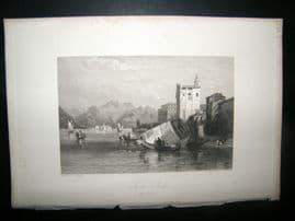 Italy 1838 Antique Print. Isola Bella, Lake Maggiore