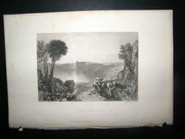 Italy 1838 Antique Print. Lake Albano