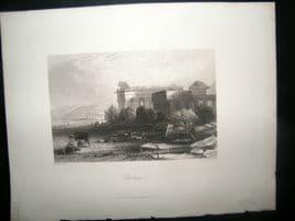 Italy 1847 Antique Print. Paestum