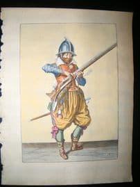 Jacob de Gheyn 1608 Fine Hand Coloured Musketeer Print -13