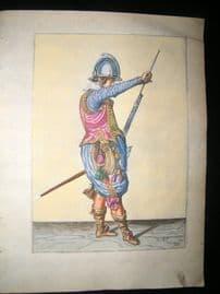 Jacob de Gheyn 1608 Fine Hand Coloured Musketeer Print 24