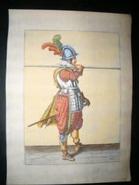 Jacob de Gheyn 1608 Fine Hand Coloured Pikeman Print 26