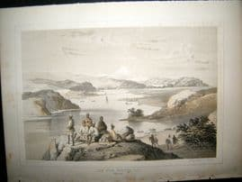 Japan Perry Expedition 1856 Antique Print, View From Webster ISL