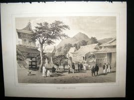 Japan Perry Expedition 1856 Antique Print. Chief Temple hakadai