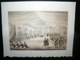 Japan Perry Expedition 1856 Antique Print. Delivery of the Presidents Letter