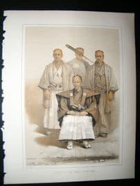 Japan Perry Expedition 1856 Antique Print. Deputy Of Prince Of Matsmay, Sumarai