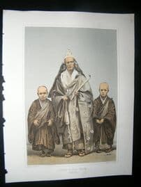 Japan Perry Expedition 1856 Antique Print. Priest in Full Dress, Simoda