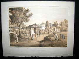 Japan Perry Expedition 1856 Antique Print. Temple At Tumai, Lew-Chew